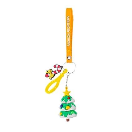 Amazon.com: IMIKEYA Llavero con forma de árbol de Navidad ...