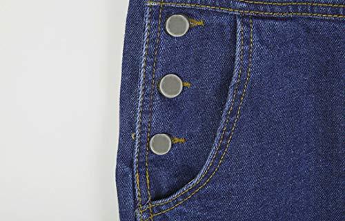 Slim Denim pour Pantalon Printemps Jumpsuit Casual Combinaison Automne Lache Salopette Bleu Femme Jeans qZxBwIgx