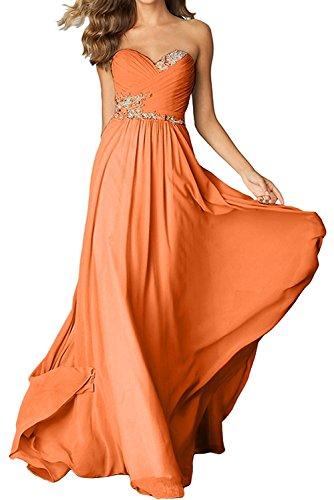 Lemon mia Langes La Festlichkleider Brautmutterkleider Damen mit Herzausschnitt Orange Chiffon Braut Gruen Abendkleider tF6qZqBw