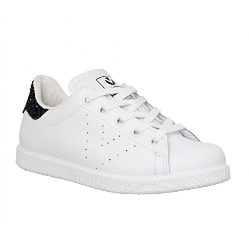 Victoria Deportivo Basket Piel - Zapatillas de Deporte Unisex blanco y negro