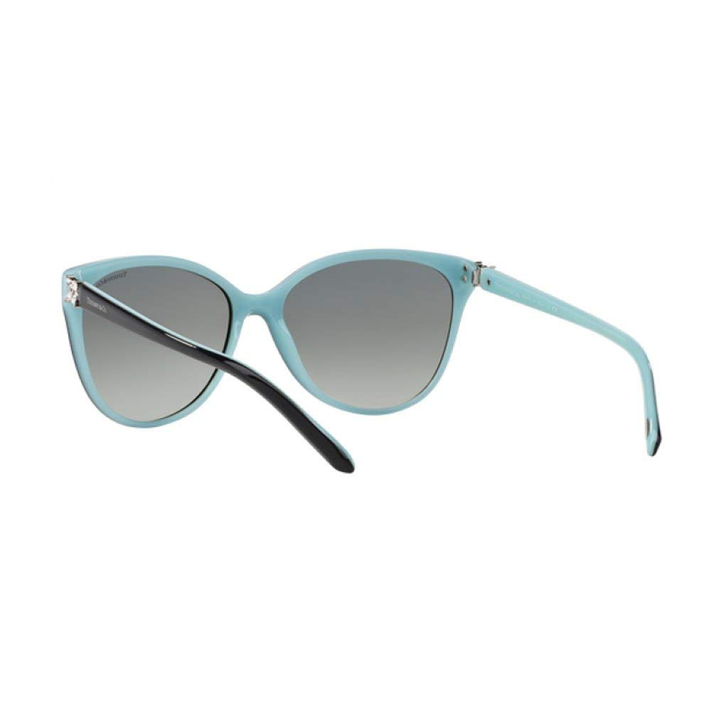 20e3a88a4f1 Amazon.com  Tiffany TF4089B 8055-3C Black TF4089B Cats Eyes Sunglasses Lens  Category 2 Size  Tiffany  Clothing