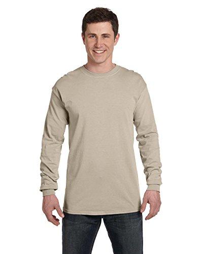 (Comfort Colors 6014 Adult Heavyweight Ringspun Long Sleeve T-Shirt - Sandstone - L)