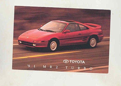 1991 Toyota MR2 Turbo Factory Postcard