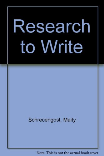 Research to Write