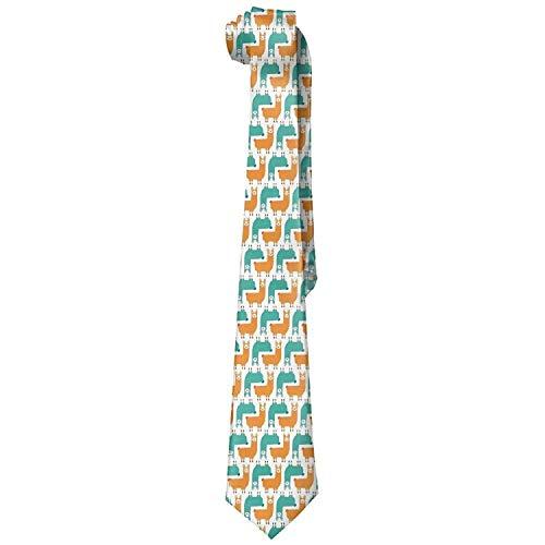 ZOZGETU Necktie Men's No Drama Llama Novelty Necktie Fashion Skinny Tie For Wedding Prom Party