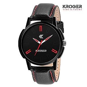 K-KROGER Casual Analog Black Dial Men's Watch KRG1112