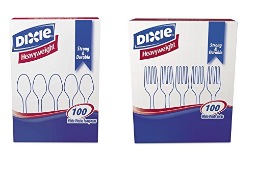 value-pack-dixier-plastic-tableware-100-heavyweight-teaspoons-100-heavyweight-forks-white-200-pieces