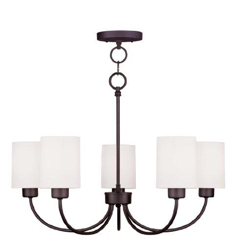Livex Lighting 5265-07 Sussex 5-Light Convertible Hanging Lantern Chandelier/Ceiling Mount, Bronze