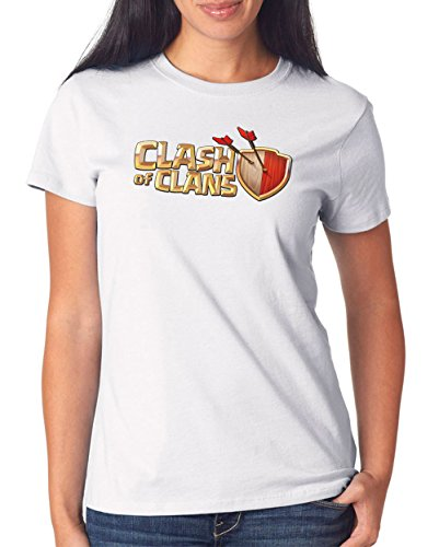 Clash of Clans Fan T-Shirt Girls White Certified Freak