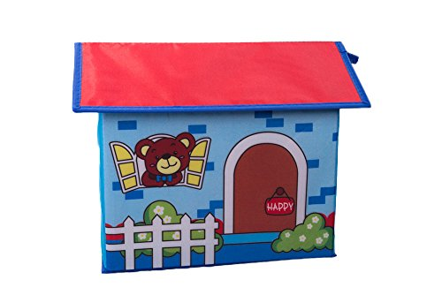 Kid's Toy Storage House with Brown Bear and Numbers