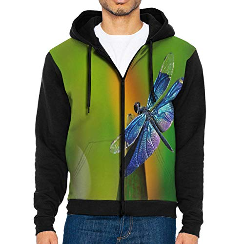 - Men Hoodie Free Dragonfly Stylish Full Zip with Pocket Jackets Lightweight for Holiday