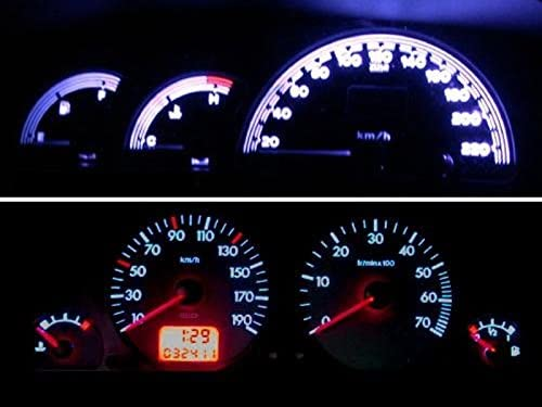 Blauer Tacho blau, rot, gr/ün, wei/ß Gr/ün LED Tachobeleuchtung Nissan Micra Peugeot 106 Fiat Punto