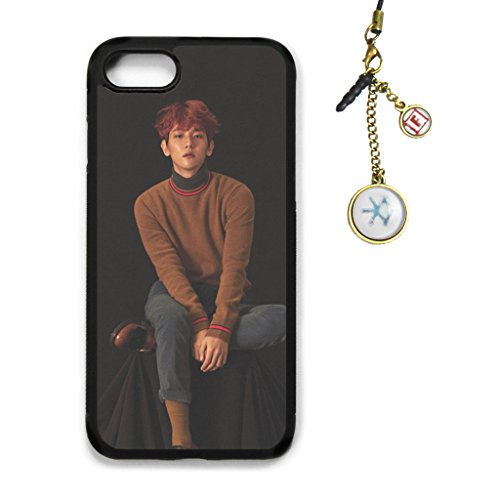 Fanstown Kpop EXO iPhone 7/8 case for Life + Dust Plug Charm (E01)