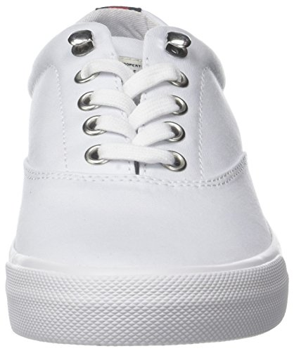 White Low Hilfiger 100 Sneakers Top Heritage White Tommy Textile Women's 86qgUx