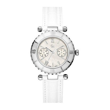 Guess Collection - Women Watch with White Leather (Swiss Made)
