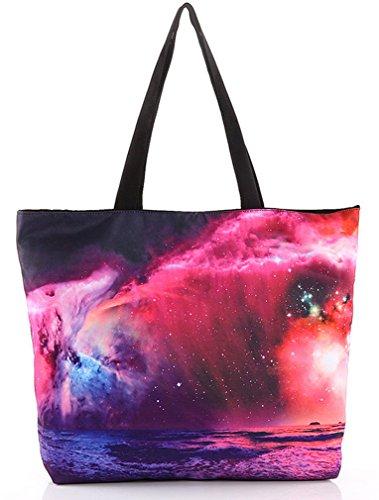 Retro Galaxy Fashion Printing Women's THENICE Shoulder Bags Shopping Star PvwTq