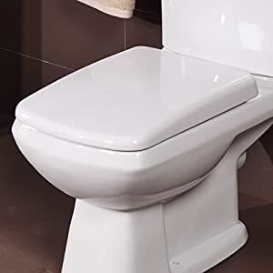 Square Toilet Seat Soft Close White Strong Durable Long Lasting