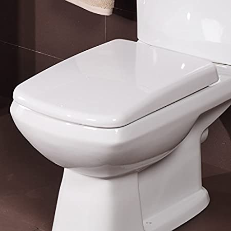 large square toilet seat. Square Toilet Seat Soft Close White Strong Durable Long Lasting Adjustable  Fit Easy Fix Clean