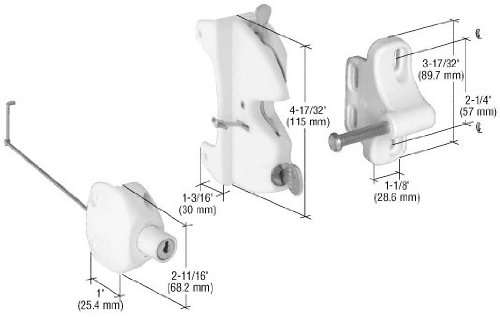 CRL White Lokk-Latch ''Series 2'' for Square Post by CR Laurence