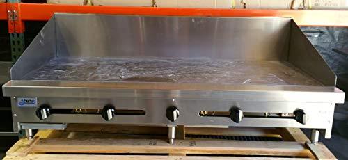 "60"" Flat Top Griddle w/ 1"" Plate & 12"" High Back Splash SMG-60-SB-12H-NG Gas"