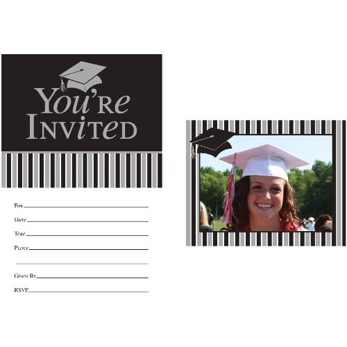 (Creative Converting 8 Count Graduation Toss Invitation Cards with Photo Insert)