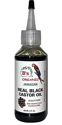 B's Organic Jamaican Real Black Castor Oil 4 oz.