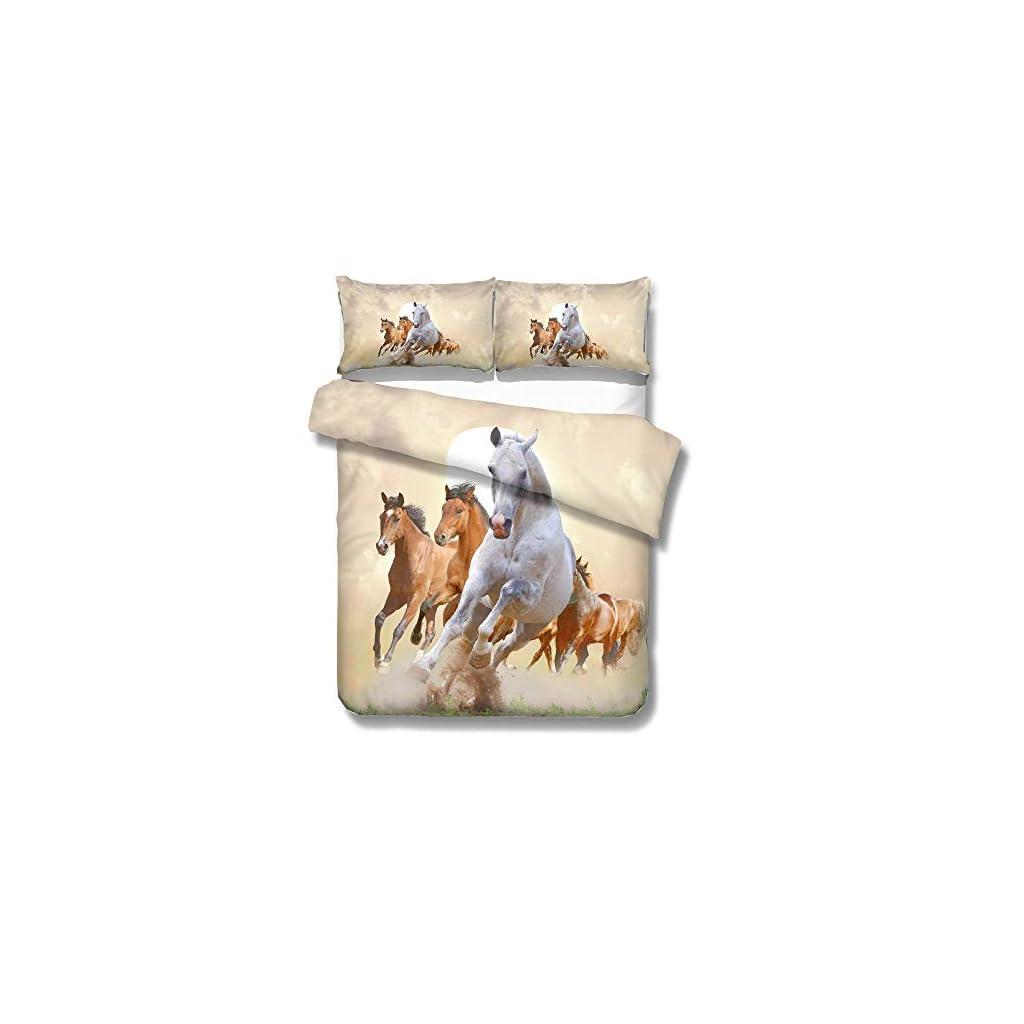 Ropa de cama de caballos