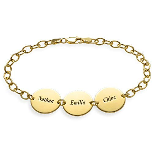 (Fashion Customed with Name Circle Bracelet Bangle for Creative Gifts)