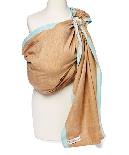 Brown Baby Sling - Hip Baby Wrap Ring Sling Baby Carrier for Infants and Toddlers (Sand)