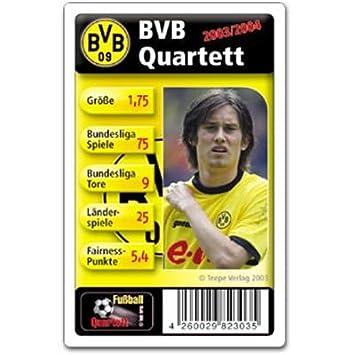 Fussball Quartett Bvb Dortmund Amazon De Spielzeug