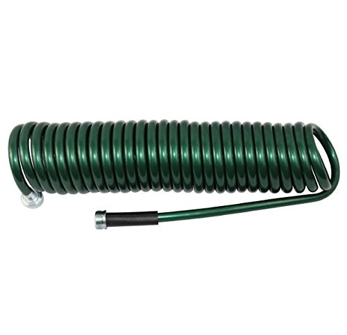 Plastair SpringHose PUW625B94H-AMZ Light Polyurethane Lead Free Drinking Water Safe Recoil Garden Hose, Green, 3/8-Inch by ()