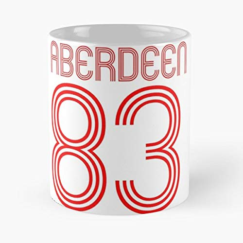 - Fc Football Club Aberdeen Real Madrid - Coffee Mugs Unique Ceramic Novelty Cup For Holiday Days 11 Oz.