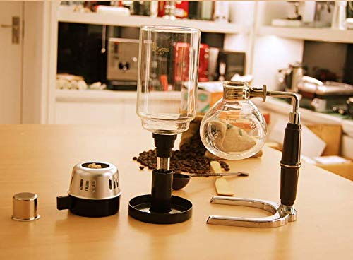Vintage Japanese Style 3 cups Siphon glass vacuum brew espresso machine coffee maker pot stove top by longxing (Image #2)