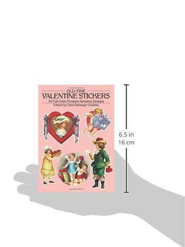 Old-Time Valentine Stickers: 23 Full Color Pressure-Sensitive Designs (Dover Stickers) by Dover Publications (Image #2)