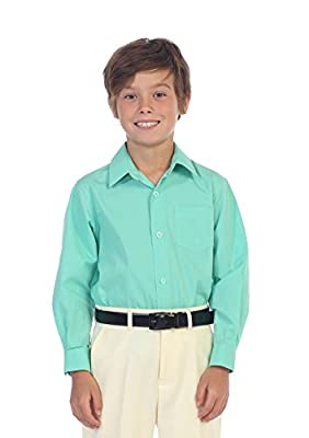 Gioberti Boys Solid Dress Shirt