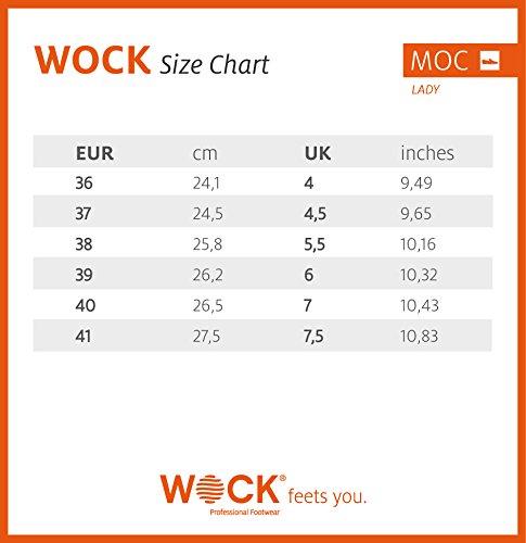 Moc Lady - Calzado de uso profesional WOCK - Esterilizable; Antiestático; Antideslizante; Absorción de Impactos Fuchsia
