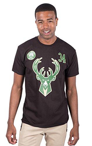 - NBA Giannis Antetokounmpo Milwaukee Bucks Men's T-Shirt Short Sleeve Tee Shirt, Small, Black