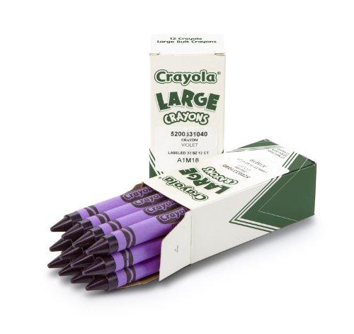 Purple Crayola Crayon Crayola; Large Crayons...
