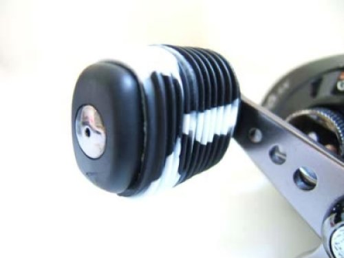 Reel Grip 1148 Reel Handle Cover, Black and White Tie Dye Finish (Fishing Reel Handle Grips)