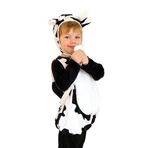 Cow Costumes Infant (Spooktacular Infant and Toddler Baby Cow Costume with Hat, S)