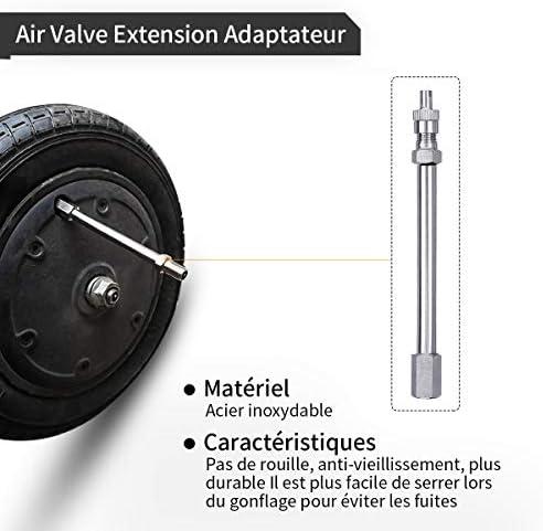 JOYXEON Pneu Roue 8 1/2X2 Chambre a air (1.8mm épais) / Pneu Plein Avant/Arrière Pneu Pneu de Rechange Compatible avec Xiaomi M365/ Pro, Durables Anti-Dérapant, Kit de démonte-pneus/Valve Extension