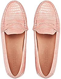 Penny Loafers for Women: Vegan Leather Slip-On Comfortable Driving Moccasins Flats