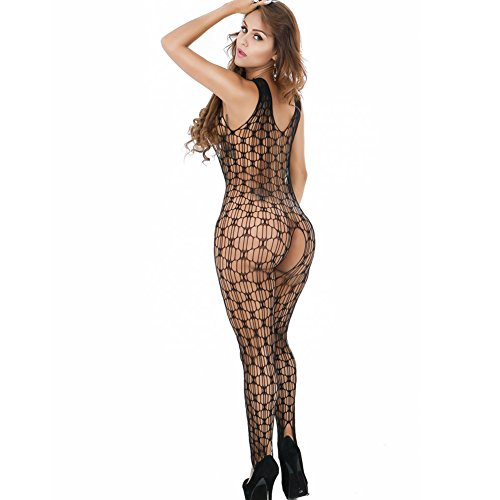 YLing Crotchless Lingerie For Women Fishnet Bodysyuit Net Bodystockings Tights -