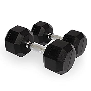 24684ff2e54 Buy Aurion Hex Dumbbells 5 Kg x 2 PCs (Total 10 Kg Rubber Coated Dumbbells)  perfect for home gym and fitness Online at Low Prices in India - Amazon.in