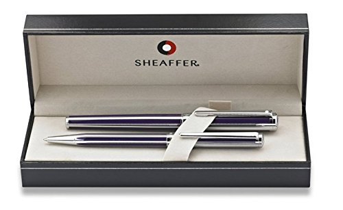 Sheaffer Intensity Violet / Chrome Medium Fountain and Ballpoint Pen Set (Best Sheaffer Pen Sets)