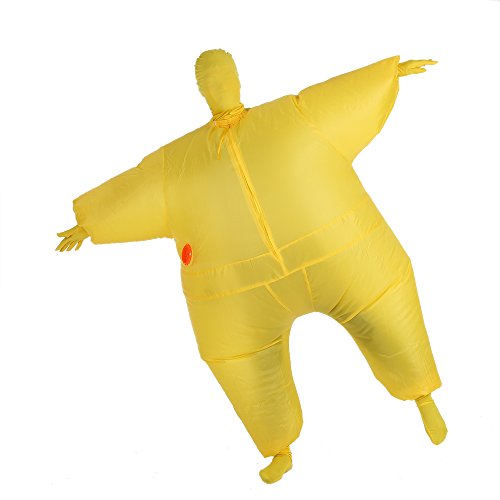 Fat Air Suit Costume (Anself Funny Inflatable Full Body Costume Suit Blow Up Halloween Party Fat Inflatable Jumpsuit Costume)