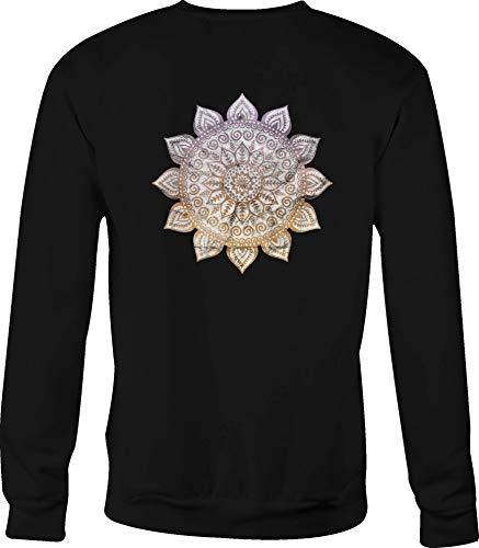Hoody Jesus Crewneck Sweatshirt Tattoo Flower for Women - Small Black