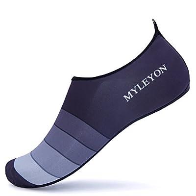 Giotto Barefoot Water Shoes Yoga Beach Swim Aqua Shoes for Women Men-Grey-38-39
