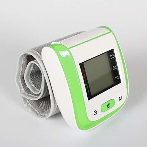 Digital Blood Pressure Meter, 5 Color Optional Wrist Design, Portable, High-Definition LCD Display - Voice Broadcast Easier,Green