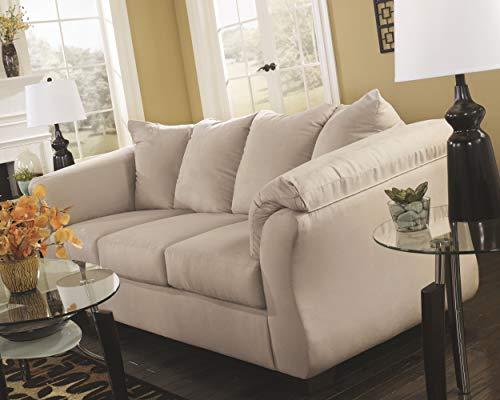 Farmhouse Living Room Furniture Signature Design by Ashley – Darcy Contemporary Microfiber Sofa, Stone farmhouse sofas and couches